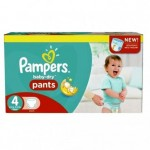 656 Couches Pampers Baby Dry Pants taille 4