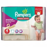 160 Couches Pampers Active Fit Pants taille 4