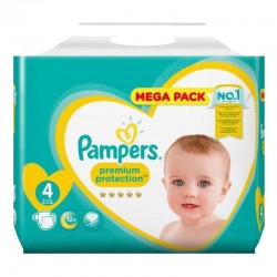 Pack 41 Couches Pampers Premium Protection taille 4