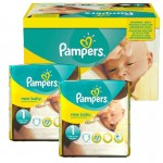 110 Couches Pampers Premium Protection taille 1
