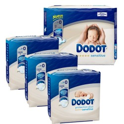 192 Couches Dodot Protection Plus Sensitive taille 0