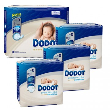 240 Couches Dodot Protection Plus Sensitive taille 0