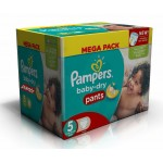 672 Couches Pampers Baby Dry Pants taille 5
