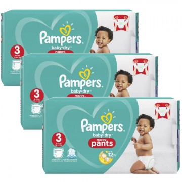57 Couches Pampers Baby Dry Pants taille 3