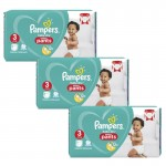 266 Couches Pampers Baby Dry Pants taille 3