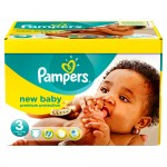 204 Couches Pampers New Baby Premium Protection taille 3