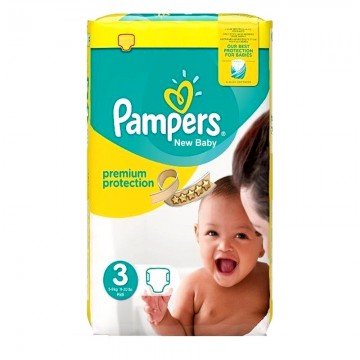 Pack 29 Couches Pampers Premium Protection taille 3