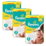 Mega pack 145 Couches Pampers Premium Protection taille 3