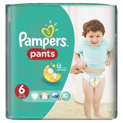 72 Couches Pampers Baby Dry Pants taille 6
