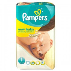 56 Couches Pampers Premium Protection taille 1
