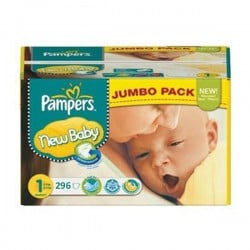 392 Couches Pampers Premium Protection taille 1