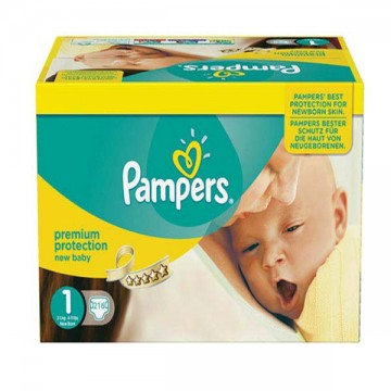 728 Couches Pampers Premium Protection taille 1