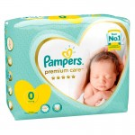 30 Couches Pampers Premium Care taille 0
