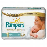 52 Couches Pampers Premium Care taille 1