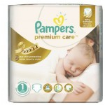 78 Couches Pampers Premium Care taille 1