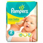 60 Couches Pampers Premium Care taille 0