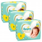 90 Couches Pampers Premium Care taille 0