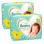 210 Couches Pampers Premium Care taille 0