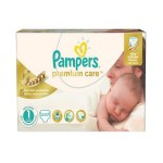 208 Couches Pampers Premium Care taille 1