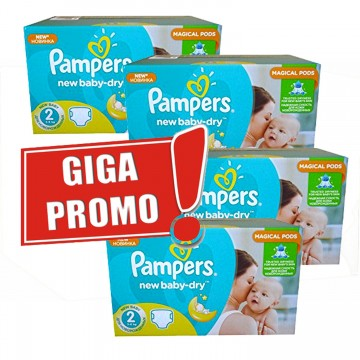 544 Couches Pampers New Baby Dry taille 2