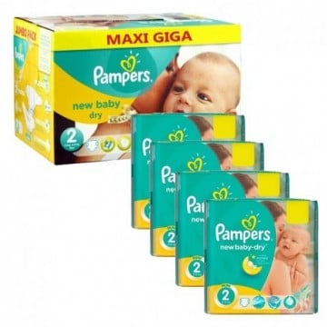 884 Couches Pampers New Baby Dry taille 2