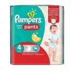 62 Couches Pampers Baby Dry Pants taille 4
