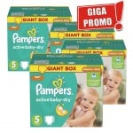 168 Couches Pampers Active Baby Dry taille 5