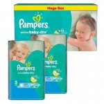 546 Couches Pampers Active Baby Dry taille 5