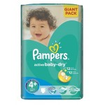 58 Couches Pampers Active Baby Dry taille 4+