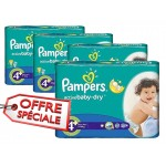 116 Couches Pampers Active Baby Dry taille 4+