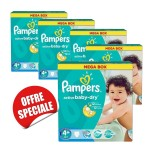 406 Couches Pampers Active Baby Dry taille 4+