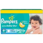 580 Couches Pampers Active Baby Dry taille 4+