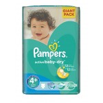 62 Couches Pampers Active Baby Dry taille 4+