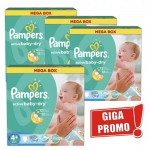 186 Couches Pampers Active Baby Dry taille 4+
