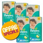 496 Couches Pampers Active Baby Dry taille 4+