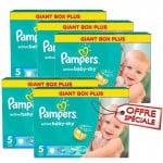 108 Couches Pampers Active Baby Dry taille 5