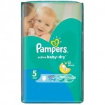 64 Couches Pampers Active Baby Dry taille 5
