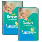 192 Couches Pampers Active Baby Dry taille 5