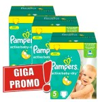 320 Couches Pampers Active Baby Dry taille 5