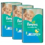 384 Couches Pampers Active Baby Dry taille 5