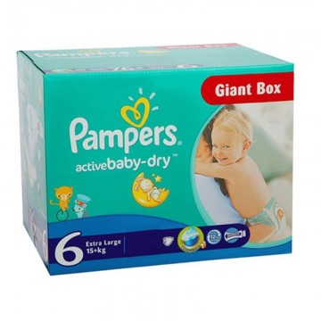 432 Couches Pampers Active Baby Dry taille 6