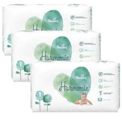 204 Couches Pampers Harmonie taille 1