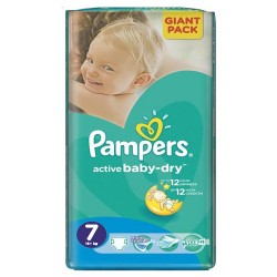 44 Couches Pampers Active Baby Dry taille 7