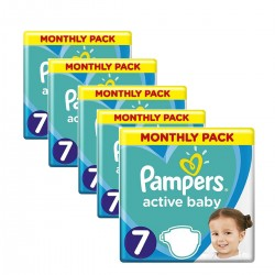 99 Couches Pampers Active Baby Dry taille 7