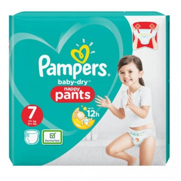 40 Couches Pampers Baby Dry Pants taille 7