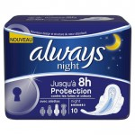 Pack 10 Serviettes hygiéniques d'Always Ultra sur layota