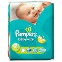 46 Couches Pampers Baby Dry taille 2