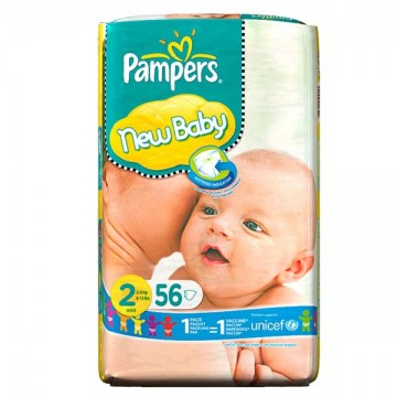 56 Couches Pampers Pampers New Baby Taille 2 A Bas Prix Sur Layota