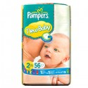 56 Couches Pampers New Baby taille 2
