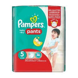 52 Couches Pampers Baby Dry Pants taille 5